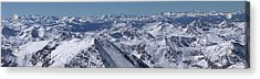 Elk Mountains Of Colorado In Late Acrylic Print