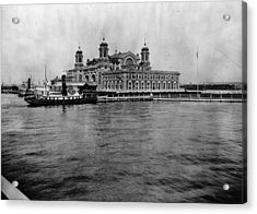 Ellis Island Acrylic Print by Hulton Archive