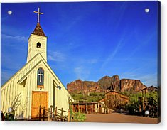 Elvis Chapel At Apacheland, Superstition Mountains Acrylic Print