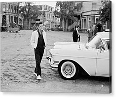 Elvis On Set Acrylic Print by Archive Photos
