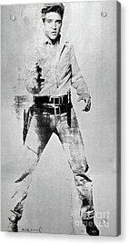 Elvis Presley, Andy Warhol, Silk Screen On Canvas Acrylic Print