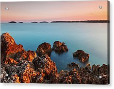 Acrylic Print featuring the photograph Ember And Blue by Davor Zerjav