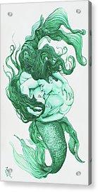 Embracing Mermen Acrylic Print