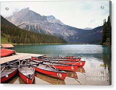 Emerald Lake Is One Of The Most Admired Acrylic Print