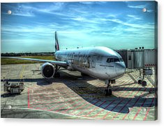 Emirates Boeing 777 Airliner Acrylic Print