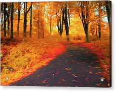 Emmaus Community Park Path - Colors Of Fall Acrylic Print