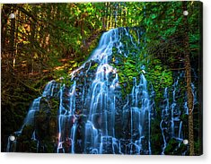 Acrylic Print featuring the photograph Enchanting Ramona Falls by Dee Browning