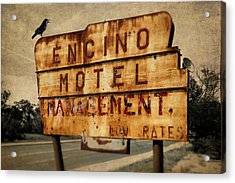 Acrylic Print featuring the photograph Encino Hotel by Lou Novick