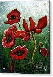 Endless Poppy Love Acrylic Print