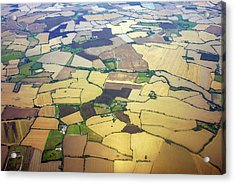 English Countryside Aerial View Acrylic Print by Rosmarie Wirz