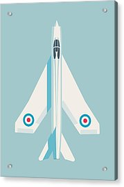English Electric Lightning Fighter Jet Aircraft - Sky Acrylic Print
