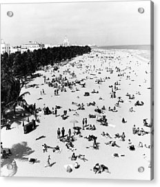 Enjoying Miami Beach Acrylic Print by Fpg