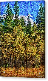 Acrylic Print featuring the digital art Enter The Woods by Joel Bruce Wallach