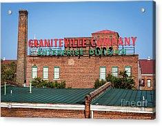 Enterprise Mill - Graniteville Company - Augusta Ga 2 Acrylic Print