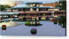 Epcot Lake Flowers Acrylic Print
