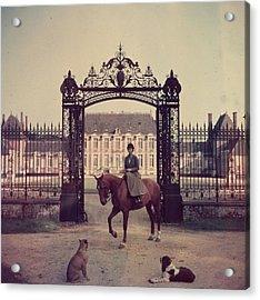 Equestrian Entrance Acrylic Print by Slim Aarons
