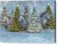 Equine Holiday Spirits Acrylic Print