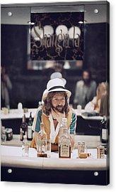 Eric Clapton In The Studio Acrylic Print by Ed Caraeff/morgan Media