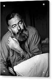 Ernest Hemingway Acrylic Print by Kurt Hutton