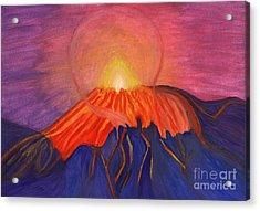 Erupting Volcano Acrylic Print