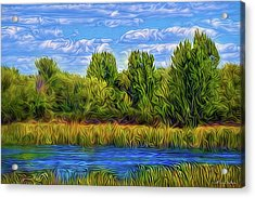 Acrylic Print featuring the digital art Eternal River Afternoon by Joel Bruce Wallach