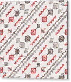 Ethno Seamless Pattern. Ethnic Boho Acrylic Print