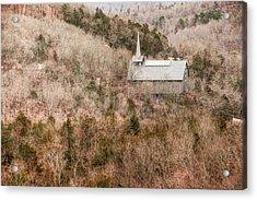Eureka Springs Thorncrown Worship Center Mountain Landscape Acrylic Print