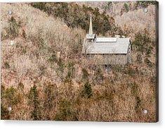 Eureka Springs Thorncrown Worship Center Ozark Mountain Landscape Acrylic Print