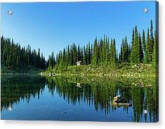 Eva Lake Cabin Acrylic Print