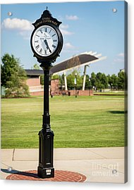 Evans Towne Center Park Clock - Columbia County Ga Acrylic Print