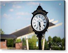 Evans Towne Center Park Clock - Evans Ga Acrylic Print