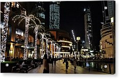 Evening At Dubai Maill, Dubai, United Arab Emirates Acrylic Print
