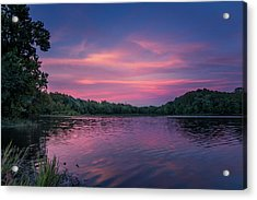Evening At Springfield Lake Acrylic Print