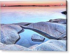 Evening At The Swedish Coastline Acrylic Print