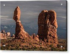 Evening Light On Balanced Rock Acrylic Print