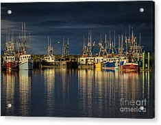 Acrylic Print featuring the photograph Evening Reflections by Eva Lechner