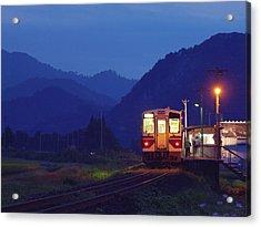 Evening Train Acrylic Print