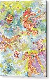 Everyone Dances In My Garden #ss19dw001  Acrylic Print by Satomi Sugimoto