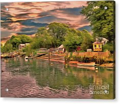 Acrylic Print featuring the photograph Everything That I Love About The River by Leigh Kemp