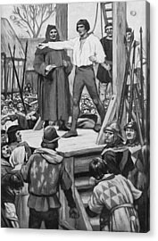 Execution Of Warbeck Acrylic Print by Hulton Archive