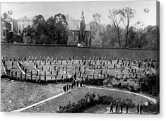Exercising Prisoners Acrylic Print by Hulton Archive