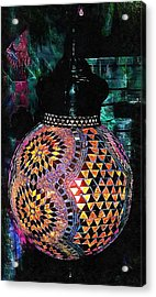Acrylic Print featuring the photograph Exotic Oriental Mosaic by Dorothy Berry-Lound