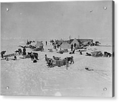 Expedition Camp Acrylic Print by Hulton Archive