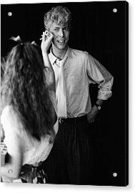 Eyes For Bowie Acrylic Print by Keystone