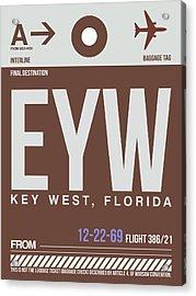 Eyw Key West Luggage Tag II Acrylic Print