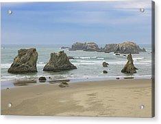 Acrylic Print featuring the photograph Face Rock Trail, Bandon Beach, Oregon by Dawn Richards