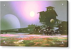 Factory And Industry In Flower Acrylic Print