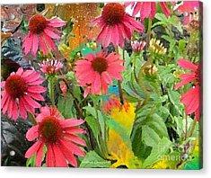 Fairy Among The Flowers Acrylic Print