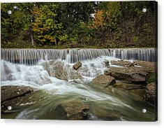 Acrylic Print featuring the photograph Fall At Pillsbury Crossing by Scott Bean