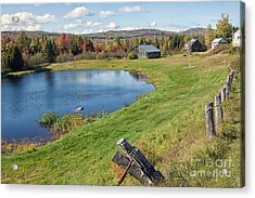 Acrylic Print featuring the photograph Fall Colors In Port Au Persil by Tatiana Travelways